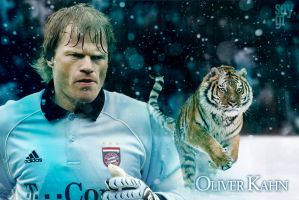 Oliver Kahn - The Titan - Tiger Wallpaper by TheSayGi