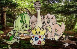 Land before time  Gang and Togepi by Animedalek1