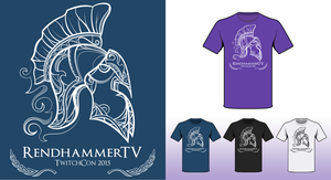 T-shirt design for RendhammerTV by digihero