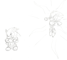 Sonic's 20th: Classic SS and Werehog by Hyperchaotix