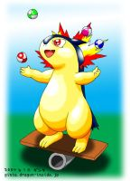 Juggling Typhlosion by Ginta