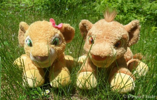 TLK Jr. Snuggle Simba and Nala plush by Pega-Flair