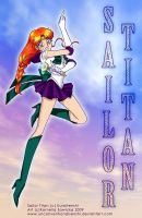 Sailor Titan in the sky by unconventionalsenshi