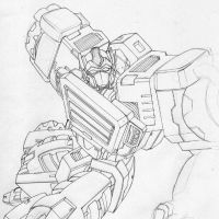 Optimus Prime Sketch by ninjabrick