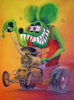Rat Fink by davidtanner