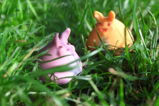 The3d print bunnies run free! [original figurines] by TheWonderCat