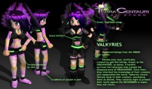 Terra Centauri: Valkyre Faction Bio by DelphaDesign