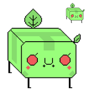 Green Tofu Creature by Fantasy-luver