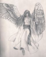 Black and White Angel by Moonless-Love