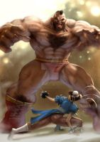 Zangief vs Chun-li by Eddie-Ferreira