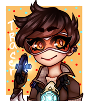 Tracer - Overwatch Icon by LemmyMasamune