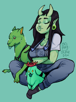 Cactus Puppies by TheCurlyBunny