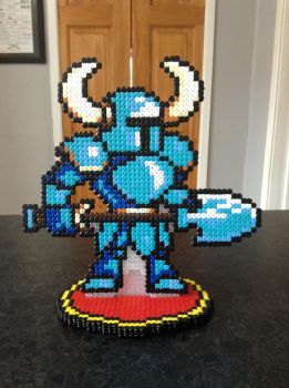 Custom Hama Stand: Shovel Knight by Dogtorwho