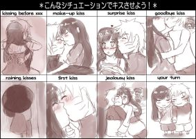 kissing meme by NarutoxHinatafan