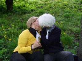 APH - The first kiss by hretalia