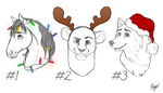 YCH Christmas Busts by Vaynese