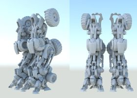 Transformers combiner wip1 by Donvius
