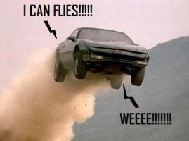 KITT Can Flies.....O.o by Michelleknight