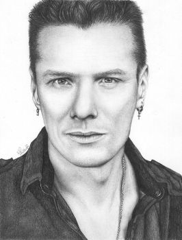 Larry Mullen Jr (U2) by vitoriaguidugli