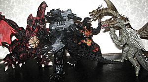 Articulated Godzilla Toys All Out War! A by XxHXCLIONxX