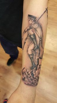 Begining of my Warhammer 40K sleeve by James-L-Wolf