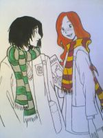 snape and lily by yayet93