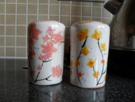 Japanese Blossom Shakers by ChibiBeckyG