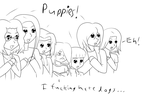 Puppies by TheBlackBullets
