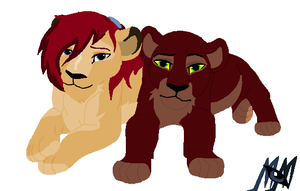 Midnight and Shani Cubs by MerlynsMidnight
