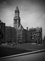 Custom House Tower BW by dpierce1313