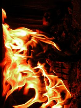 STOCK IMAGE doll in fire 3 by LamollesseStockImage