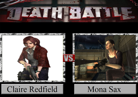 Claire Redfield vs. Mona Sax by JasonPictures