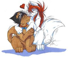 Kurama and Hiei furries by DevilsHaven