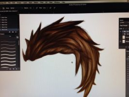 Practicing hair by Soulless--Romantic