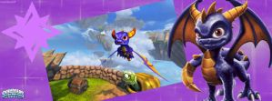 Spyro Facebook Cover by txwhitewolf