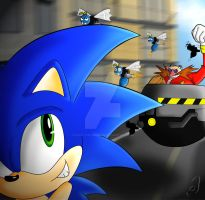 Sonic the Hedgehog by Kath-the-shadow