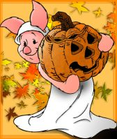 The Piglet of Halloween by FireIceRobin