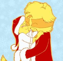 Santa and son by FeralSonic