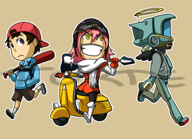 Stickers: FLCL by forte-girl7