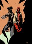 Hellboy and Devilman - Colour by genocidalpenguin