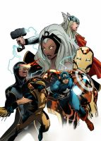 Coipel Marvel Heroes by SpicerColor