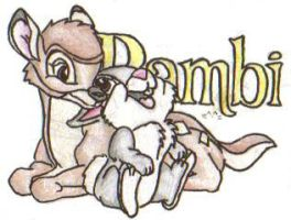 Disney Couples-Bambi n Thumper by Tigz-Moonlight