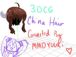 3DCG China Hair by MMDYuuki
