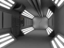 WIP 2 Sci Fi Corridor by 2753Productions