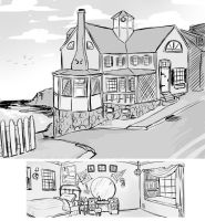 Exterior and Interior Sketches for Trailer by paigehwarren