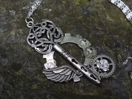 Steampunk fantasy key by Hiddendemon-666
