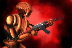 HK-47...with an AK-47 by ZedderZulu