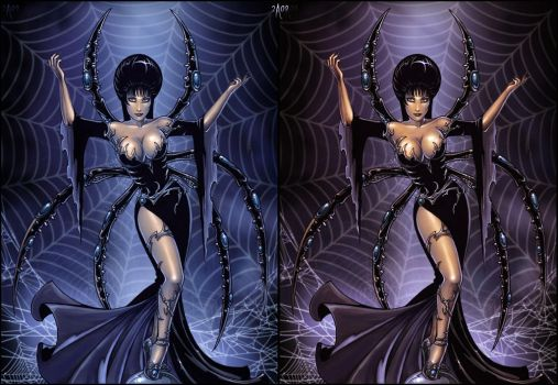 Elvira like a Spider Queen by Candra
