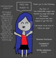 Fan Hugs!: Facebook 50 Like Milestone by VampieArtist