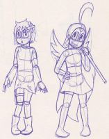 Sketch - Anette and Sailor Raybloom by SailorRaybloomDZ